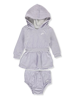 Baby Girls' Hooded Dress with Diaper Cover by Nike in Multi - $9.99