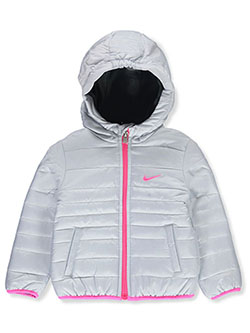 Baby Girls' Insulated Hooded Jacket by Nike in Pure platinum