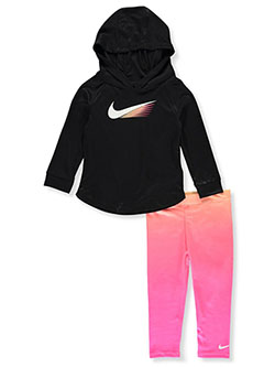 Baby Girls' 2-Piece Leggings Set Outfit by Nike in Hyper pink