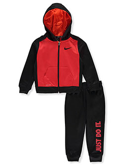 Boys' 2-Piece Sweatsuit Outfit by Nike in University red