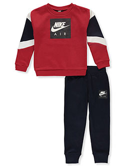 Boys' 2-Piece Joggers Set Outfit by Nike in Obsidian