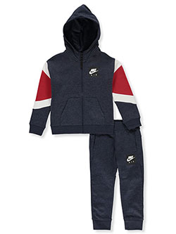 Boys' 2-Piece Sweatsuit Outfit by Nike in Obsidian heather