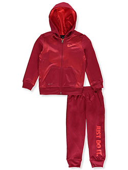 Boys' Dri-Fit 2-Piece Tracksuit Outfit by Nike in Red crush