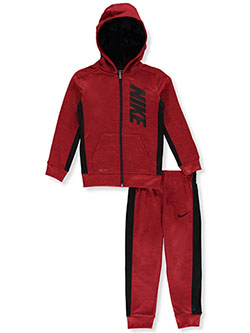 Boys' Dri-Fit 2-Piece Tracksuit Outfit by Nike in University red heather