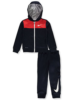 Boys' Dri-Fit 2-Piece Tracksuit Outfit by Nike in Obsidian