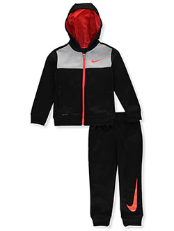 Boys' Dri-Fit 2-Piece Tracksuit Outfit by Nike in Black/wolf gray