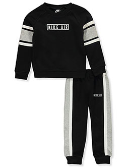 Boys' 2-Piece Joggers Set Outfit by Nike in Black