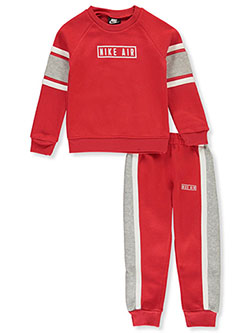 Boys' 2-Piece Joggers Set Outfit by Nike in University red