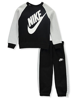 Boys' 2-Piece Joggers Set Outfit by Nike in Black, Boys Fashion