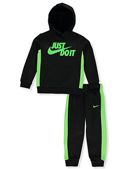 Boys' 2-Piece Sweatsuit Outfit by Nike in Black, Boys Fashion