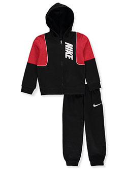 Boys' 2-Piece Sweatsuit Outfit by Nike in Black