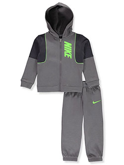 Boys' 2-Piece Sweatsuit Outfit by Nike in Gunsmoke, Sizes 2T-4T