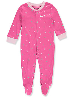 Baby Girls' Footed Coverall by Nike in Laser fuchsia, Infants