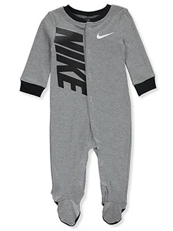 Baby Boys' Footed Coverall by Nike in Gray, Infants
