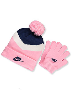 Girls' Beanie & Gloves Set by Nike in Blue/multi, Toddler:::Youth