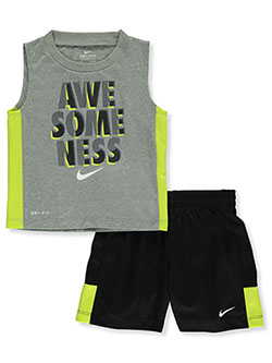 Baby Boys' 2-Piece Shorts Set Outfit by Nike in Black multi