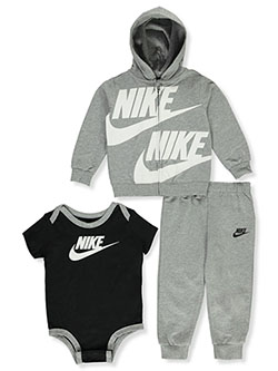 Baby Boys' 3-Piece Layette Set by Nike in Gray