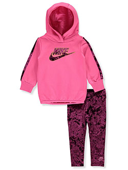 Baby Girls' 2-Piece Leggings Set Outfit by Nike in Red