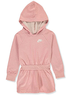 Girls' Hoodie Dress by Nike in Coral, Sizes 4-6X