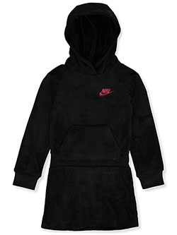 Girls' Hoodie Dress by Nike in Black, Sizes 4-6X