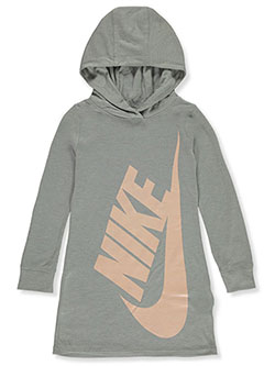 Girls' Hoodie Dress by Nike in Gray, Sizes 4-6X