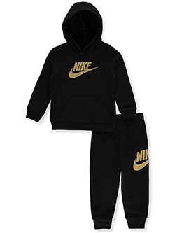 Baby Boys' 2-Piece Sweatsuit Outfit by Nike in Black
