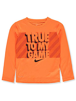 Boys' L/S T-Shirt by Nike in Multi, Sizes 4-7