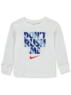 Boys' L/S T-Shirt by Nike in White