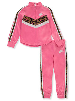 Girls' 2-Piece Tracksuit Outfit by Nike in Pink sicle