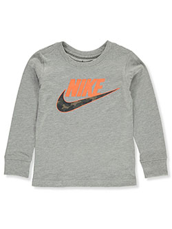 Boys' L/S T-Shirt by Nike in Gray