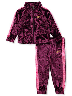 Baby Girls' Velour 2-Piece Tracksuit Outfit by Nike in Multi