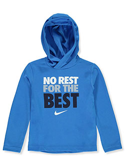 Boys' Dri-Fit Hoodie by Nike in Photo blue, Boys Fashion