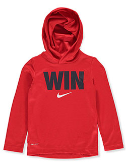 Boys' Dri-Fit Hoodie by Nike in Red/multi, Boys Fashion