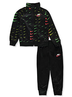 Boys' 2-Piece Tricot Tracksuit Outfit by Nike in Black