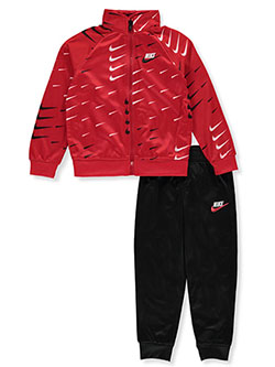 Boys' 2-Piece Tricot Tracksuit Outfit by Nike in University red