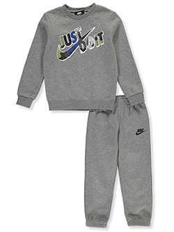 Boys' 2-Piece Sweatsuit Outfit by Nike in Carbon heather, Boys Fashion