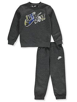 Boys' 2-Piece Sweatsuit Outfit by Nike in Black heather, Boys Fashion
