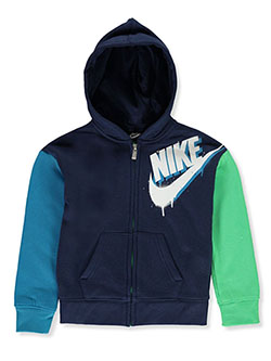 Boys' Zip Hoodie by Nike in Multi