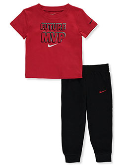 Baby Boys' 2-Piece Joggers Set Outfit by Nike in University red - Active Sets
