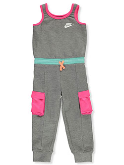 Girls' Jumpsuit by Nike in Carbon heather