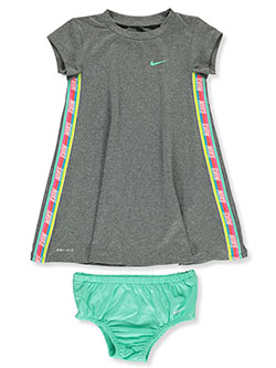 Baby Girls' Dri-Fit 2-Piece Dress Set Outfit by Nike in Carbon heather