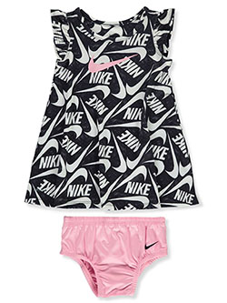 Baby Girls' Dri-Fit 2-Piece Dress Set Outfit by Nike in Black