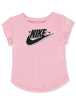 Baby Girls' Swoosh T-Shirt by Nike in Pink
