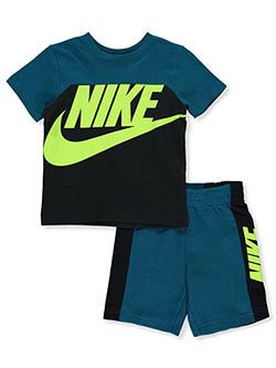 Boys' 2-Piece Shorts Set Outfit by Nike in Black, Boys Fashion