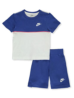 Boys' 2-Piece Shorts Set Outfit by Nike in Game royal, Boys Fashion