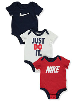 Baby Boys' 3-Pack Bodysuits by Nike in University red