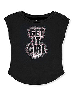 Baby Girls' Get It Girl T-shirt by Nike in Black