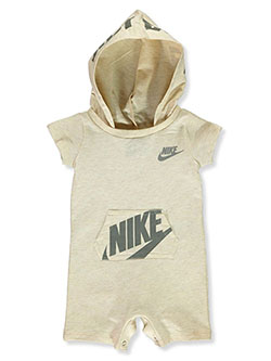 Baby Boys' Hooded Terry Romper by Nike in Brown - Rompers