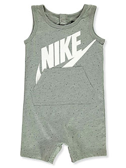 Baby Boys' Tank Romper by Nike in Gray - Rompers