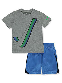 Baby Boys' 2-Piece Dri-Fit Shorts Set Outfit by Nike in Blue, Boys Fashion